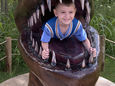 Boy in Dinosaur