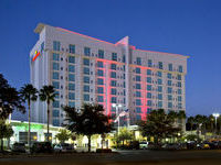 Crowne Plaza Hotel Tampa Exterior as Dusk