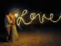 Love in Sparklers by Couple - Treasure Island, Florida